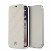 Mercedes-Benz Booktype voor Apple iPhone X-Xs  - Grijs (3700740412725)