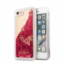 Guess Achterkant voor Apple iPhone 7-8 -  Raspberry (3700740417591)