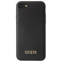 Guess Achterkant voor Apple iPhone 7-8 -  Zwart (3700740417515)