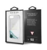 Guess Achterkant voor Apple iPhone 7-8 -  Blauw (3700740398302)