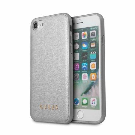 Guess Achterkant voor Apple iPhone 7-8 -  Zilver (3700740417430)