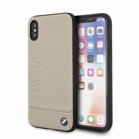BMW Achterkant voor Apple iPhone X-Xs  -  Taupe (3700740409497)