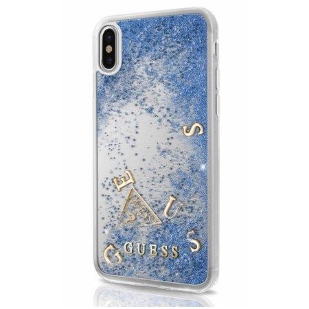 Guess Achterkant voor Apple iPhone X-Xs  -  Blauw (3700740407875)