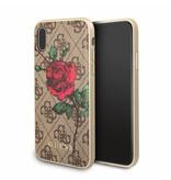 Guess Achterkant voor Apple iPhone X-Xs  -  Bruin (3700740406915)