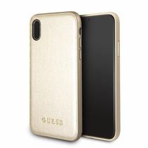Guess Achterkant voor Apple iPhone X-Xs  -  Goud (3700740407790)