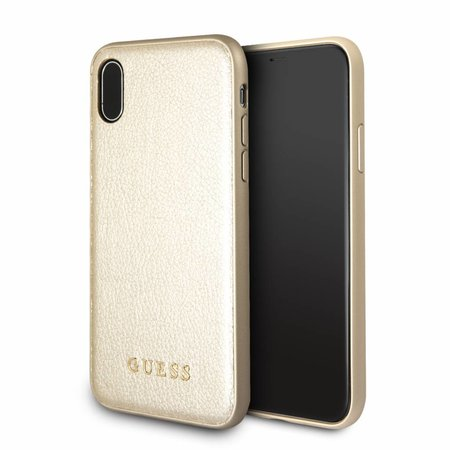 Guess Achterkant voor Apple iPhone X-Xs  -  Goud (3700740407790)