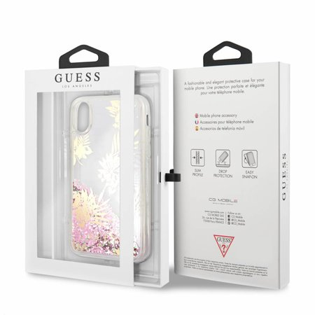 Guess Achterkant voor Apple iPhone X-Xs  -  Roze (3700740407912)