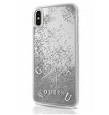Guess Achterkant voor Apple iPhone X-Xs  -  Zilver (3700740407905)