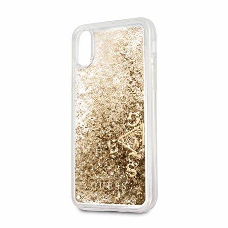 Guess Achterkant voor Apple iPhone X-Xs  -  Goud (3700740407882)