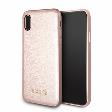 Guess Achterkant voor Apple iPhone X-Xs  -  Rose Gold (3700740407837)