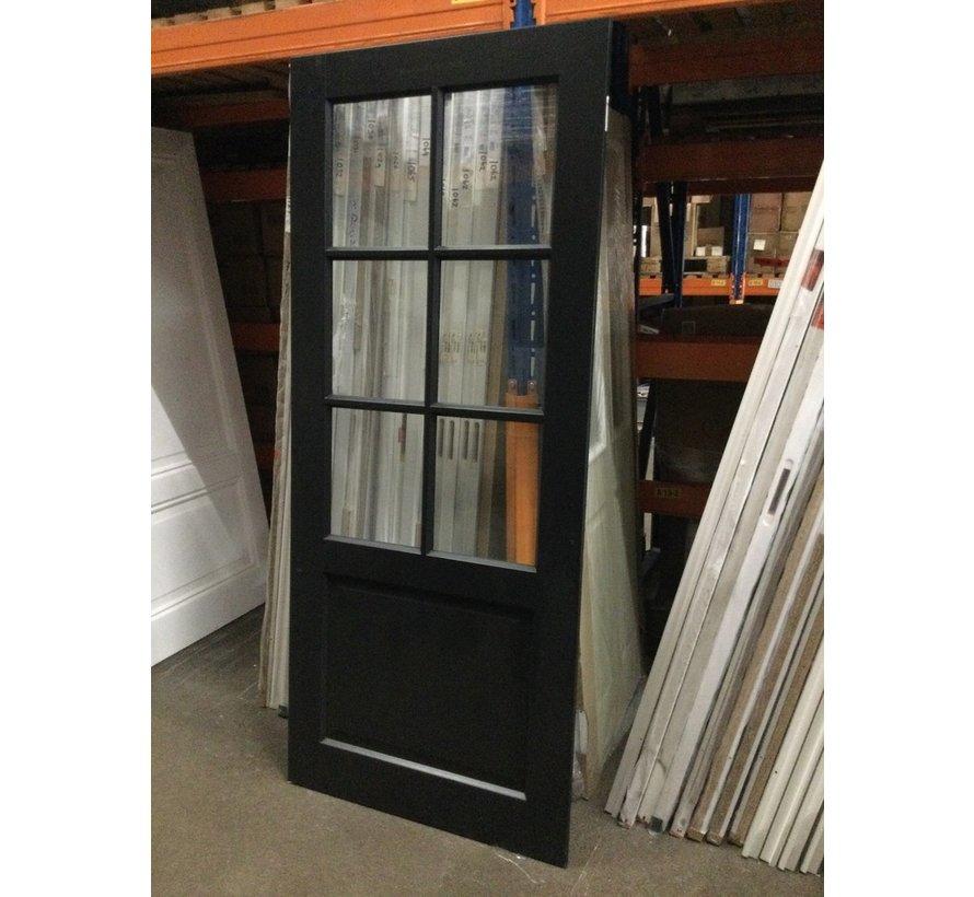 Cando Binnendeur Zwart incl blankglas 88x211,5cm