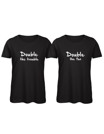 UMustHave Shirt los set | Double the trouble, double the fun