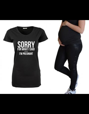 UMustHave Zwangerschapsshirt | Sorry, i'm pregnant
