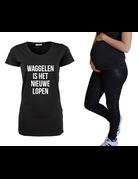 UMustHave Zwangerschapsshirt | Waggelen is het nieuwe lopen