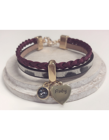 UMustHave Armband | Panter bordeaux