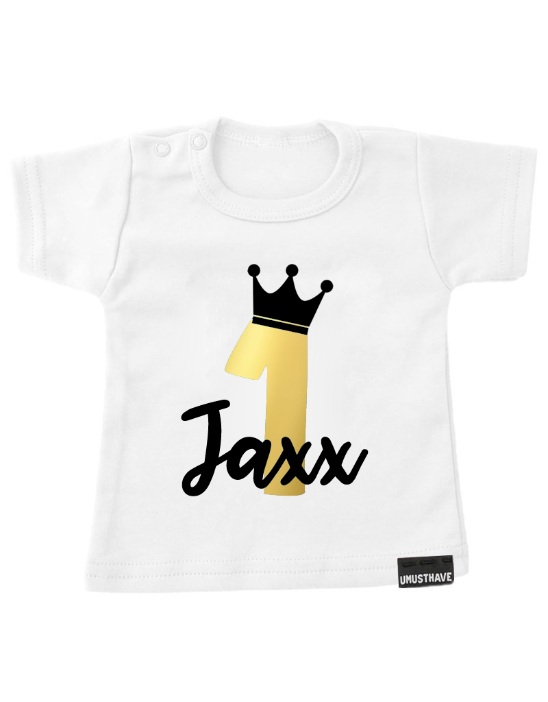 UMustHave Shirt | Verjaardag jongen kroon