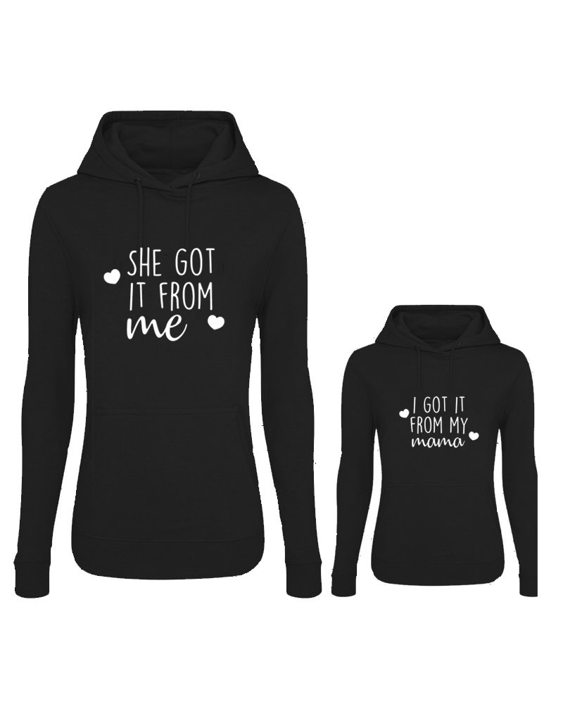 UMustHave Twinning hoodies | Black edition - She got it from me