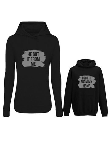 UMustHave Twinning hoodies | He got it from me black