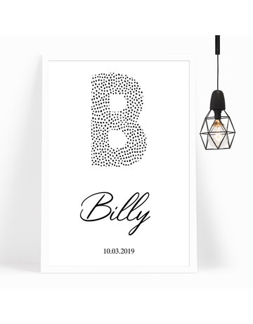 BrandLux Poster | Letter dots