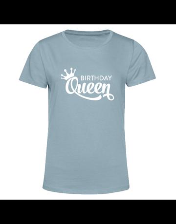 UMustHave T-shirt verjaardag soft blue | Birthday Queen