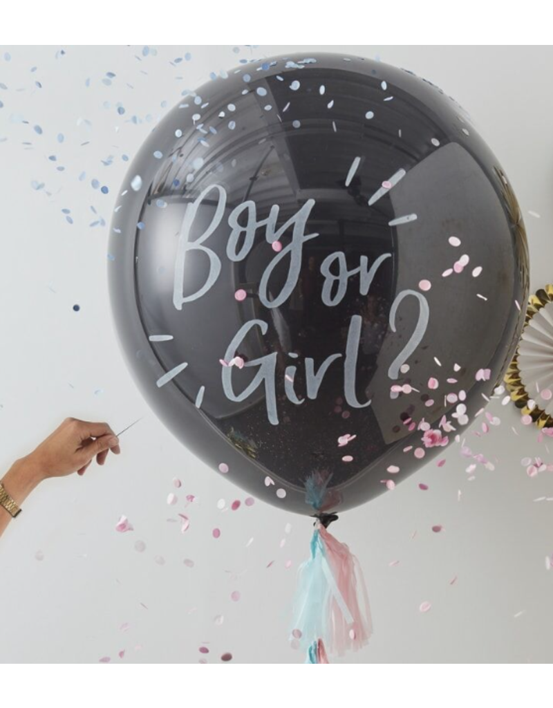 Gingerray Gender reveal ballon | Pink or blue
