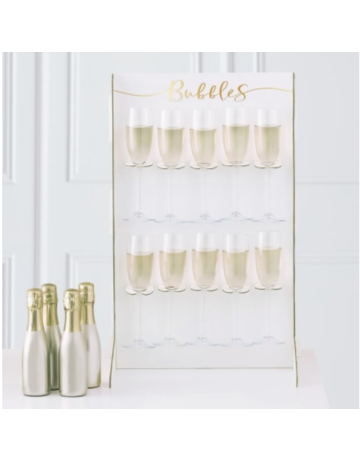 Gingerray PROSECCO BUBBLY DRINKS WALL HOLDER - GOLD WEDDING