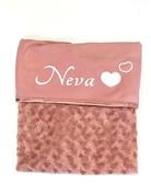 UMustHave Baby deken | rose kleur met eigen naam.