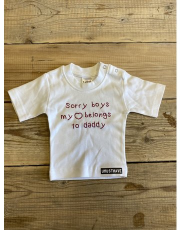 UMustHave Sale shirt kind | 50/56 | sorry boys my heart belongs to daddy wit