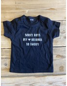 UMustHave Sale shirt kind | 62/68 | sorry boys my heart belongs to daddy zwart