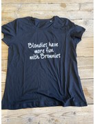 UMustHave Sale shirt | L | blondies have more fun with brownies zwart