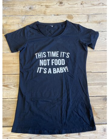 UMustHave Sale zwangerschapsshirt | XL | this time it's not food it's a baby zwart