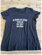 UMustHave Sale shirt | 2XL | ik drink en sport tegelijk dat heet bacardio zwart