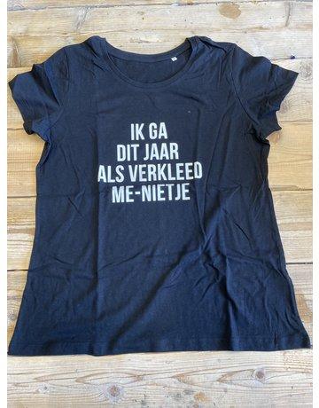 UMustHave Sale shirt | XL | ik ga dit jaar als verkleed me-nietje zwart