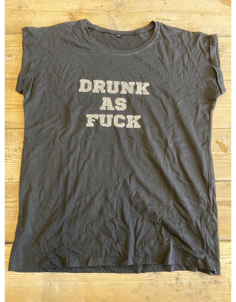 UMustHave Sale shirt | XL | drunk as fuck zwart
