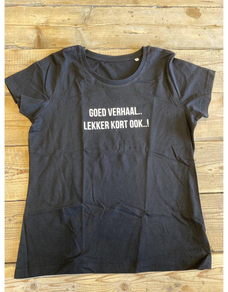 UMustHave Sale shirt | L | goed verhaal.. lekker kort ook..! zwart