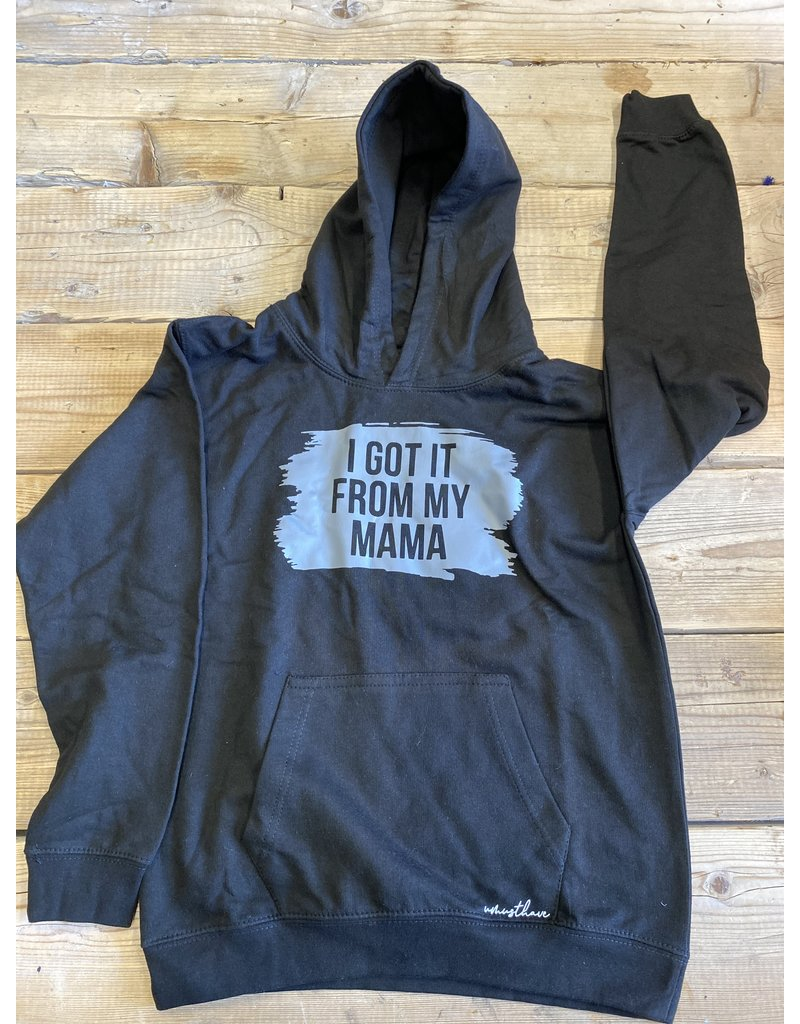 UMustHave Sale hoodie kind |12/13 jaar | i got it from my mama zwart