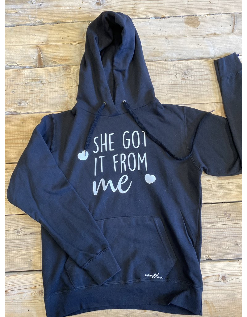 UMustHave Sale hoodie | M | she got it from me zwart