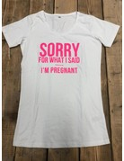 UMustHave Sale zwangerschapsshirt | XXL | sorry for what i said .... i'm pregnant.  wit