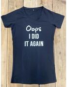 UMustHave Sale zwangerschapsshirt   XL   oops i did it again zwart