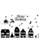 BrandLux Raamsticker  herbruikbaar| Kerst xxl