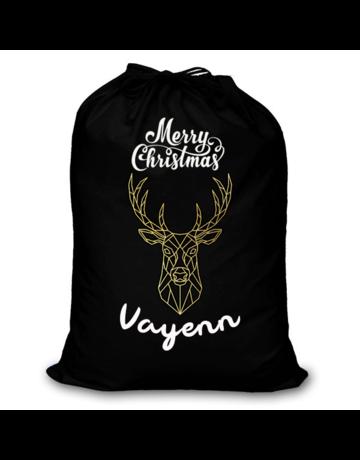 BrandLux Kerstzak | Merry Christmas zak met eigen naam