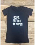 UMustHave Sale zwangerschapsshirt | M | oops, we did it again zwart