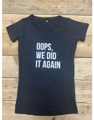 UMustHave Sale zwangerschapsshirt | M | oops, we did it again zwart