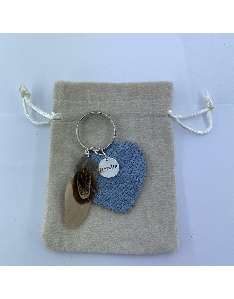 UMustHave Sleutelhanger | blue snake heart