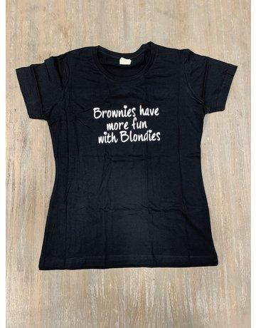 UMustHave Sale shirt | S | Brownies have more fun zwart