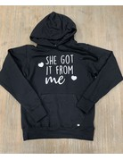 UMustHave Sale hoodie | S | She Got It From Me zwart
