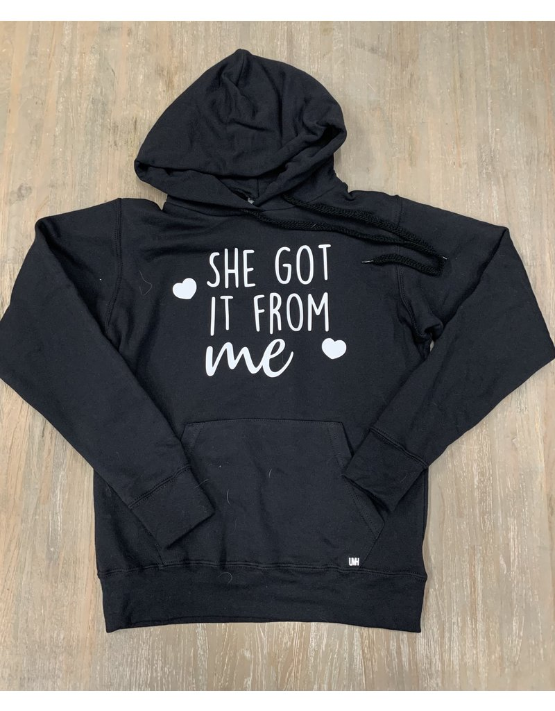 UMustHave Sale hoodie   S   She Got It From Me zwart