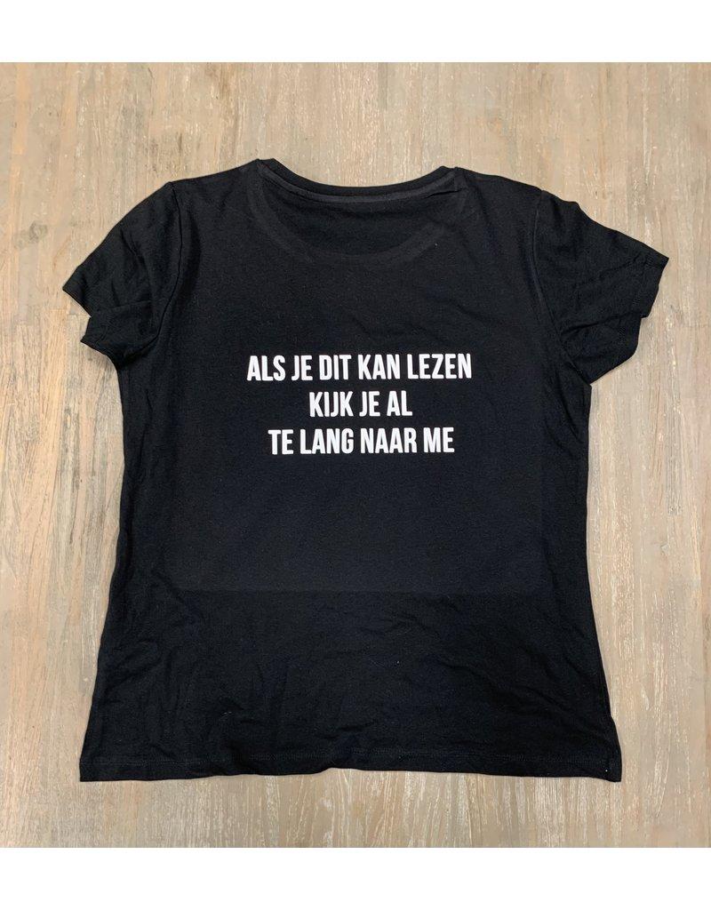 UMustHave Sale shirt | L | Als je dit kan lezen zwart