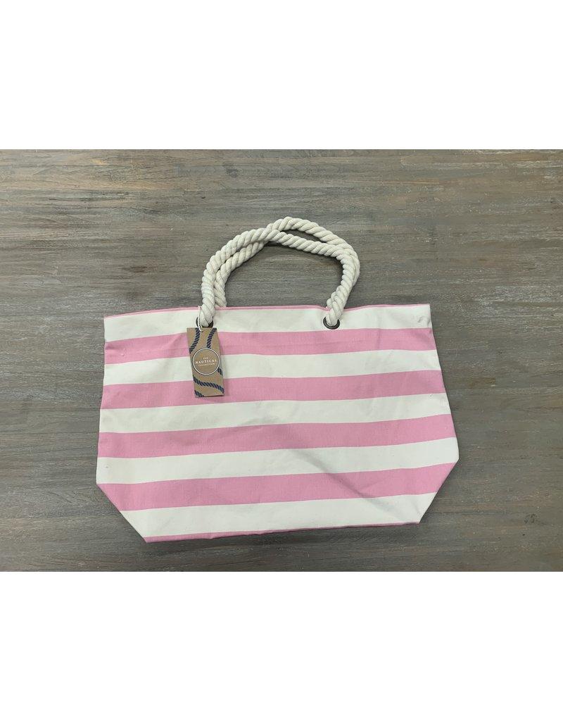 UMustHave Sale Strandtas   Pink stripes