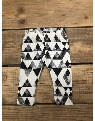 UMustHave Sale legging kind   50-56   Ruit zwart/wit
